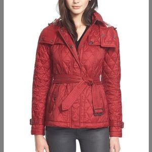 Burberry quilted belted jacket finsbridge